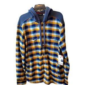 NWT Marmot Oheny Button Down Hooded Shirt  Large